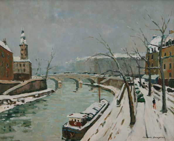 Paris - Neige au Pont St.Michel (Sold)