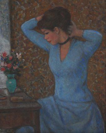 Jeune Femme devant la coiffeuse (sold)