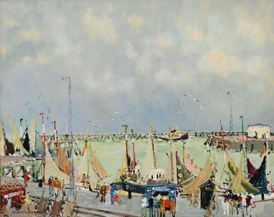 Ostende - les barques, Quai de la Minque