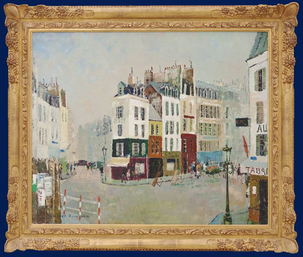 Paris -Carrefour Montmartre Framed