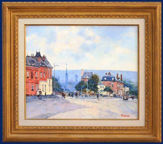 Rue d'Ernemont Rouen Framed