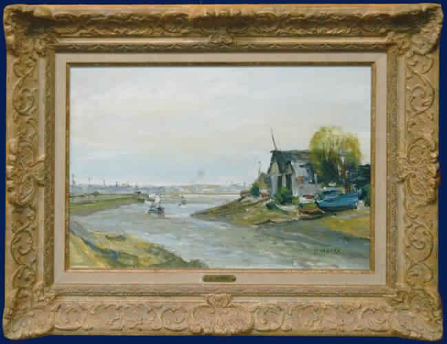 Fishing Boats on Seine Framed