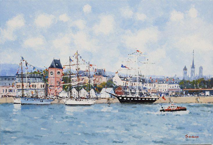 Radezvous des viewx Bateaux dans le Port de Rouen (Sold)