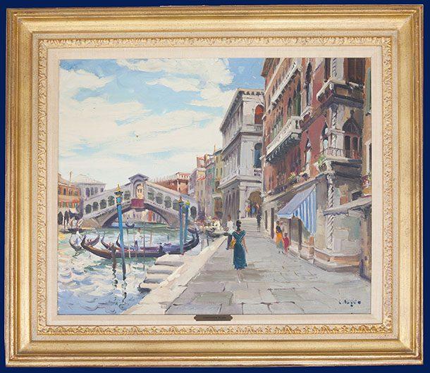 Rialto Bridge - Venice Framed