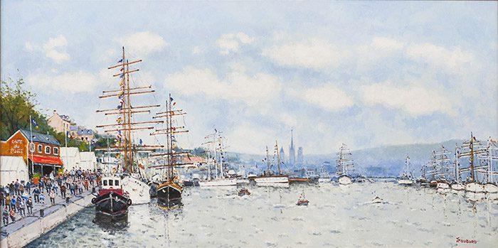 Les Grands Voiliers dans le port Rouen (sold)