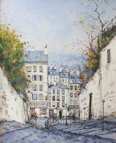 Les Escaliers a Montmartre (Sold)