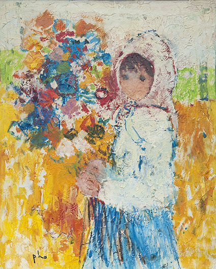 Girl with Flower (sold)