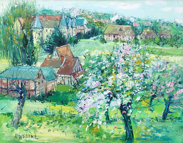 L'arbre en Fleur dans le Village