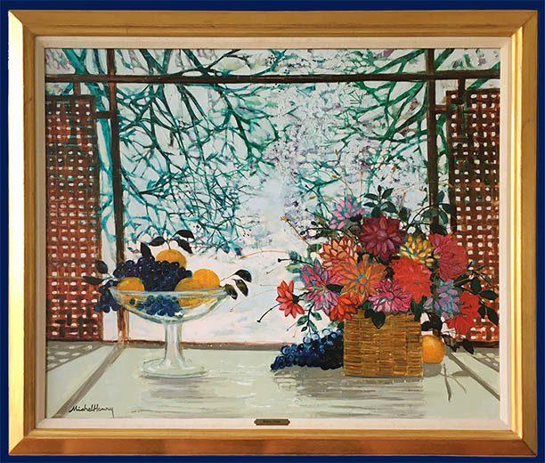Bouquet aux Raisins Framed