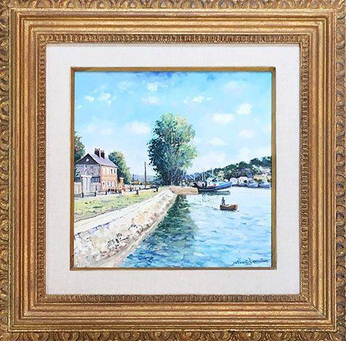Canal du Port du Honfleur Framed