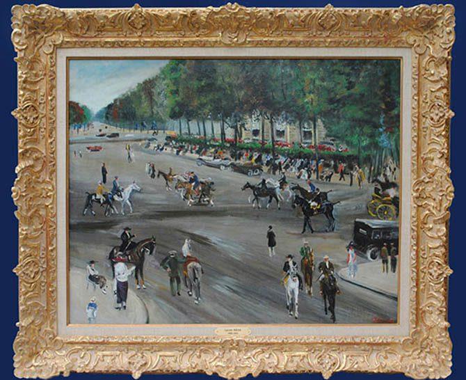 Boulevard en Espagne Framed