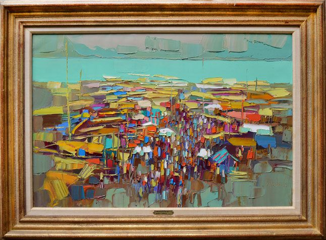 Market by the Sea Framed