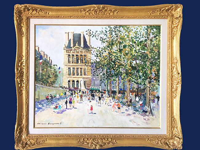 Les Tuilerie Framed