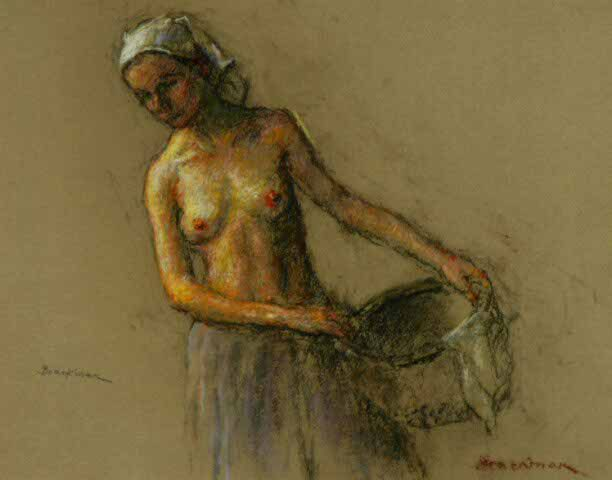 Woman with Basket (Sold)