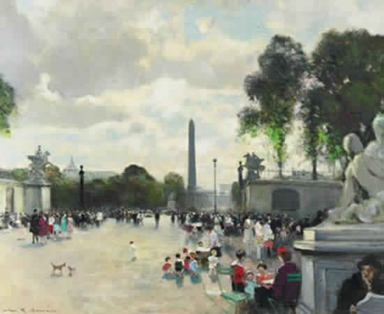Place de la Concorde from Tuileries (Sold)