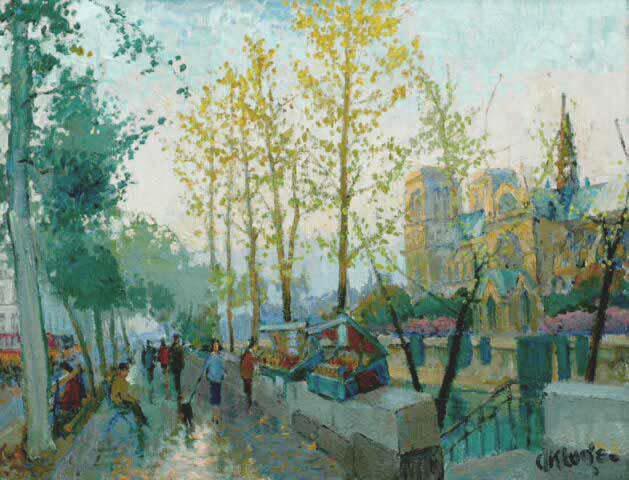 Paris - Notre Dame et Bouquinistes (Sold)