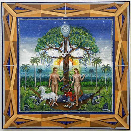 Adam and Eve Framed