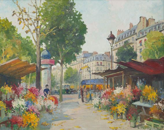 Les Fleurs en plein Paris (Sold)