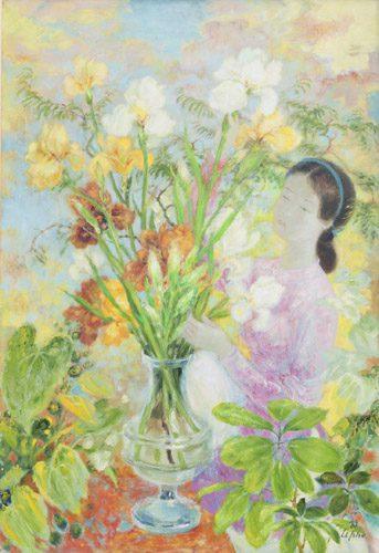La Femme aux Iris (Sold)