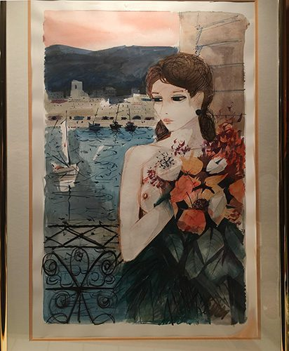 Lady with Bouquet of Flowers (Sold)