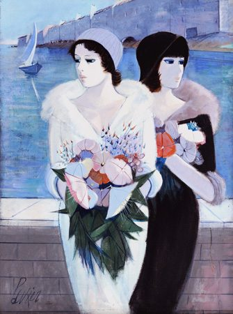Two Women with flower (Sold)