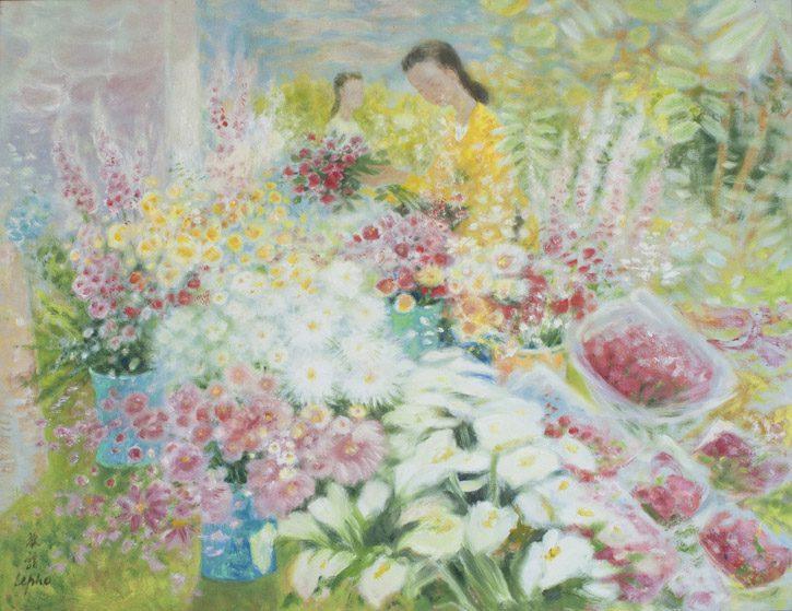 Deux Filles dans le Jardin (Sold)