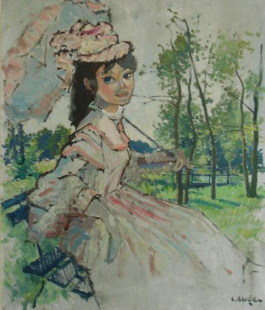Lady with Parasol  (Sold)