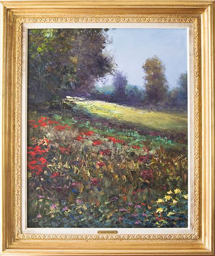 Sunlit Flowers Framed