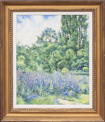 Wild Lavender Flower Framed